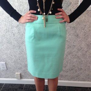 J Crew Teal Pencil Skirt